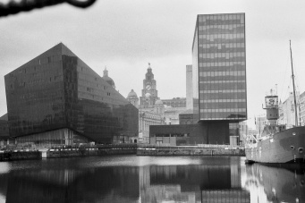 New buildings surround the Three Graces