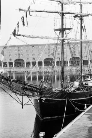 Tall ship in the Albert Dock