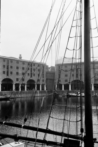 Tall ship in the Albert Dock