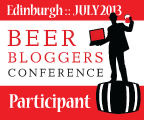 Beer Bloggers' Conference, Edinburgh, July 2013.