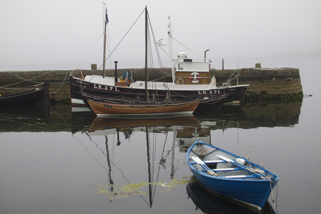 Small boats in Hay's Dock, Lerwick.